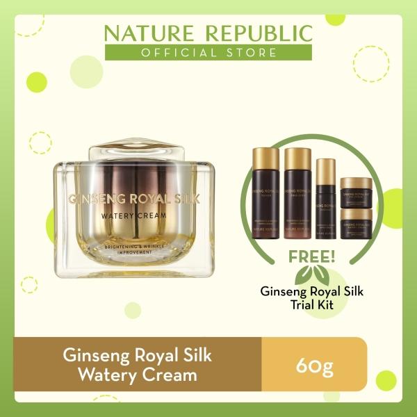 Buy Nature Republic Ginseng Royal Silk Watery Cream - Moisturizer for Anti-Aging (60 g) + Ginseng Royal Silk Trial Kit ★ Singapore