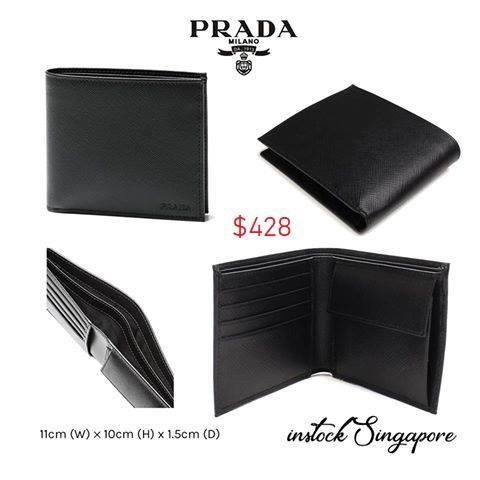 f13e952558b786 ... bi colour bifold wallet with coin pouch logo 5822b cae9f; usa  singapore. prada men wallet full leather coin saffiano leather 16111 81d6f