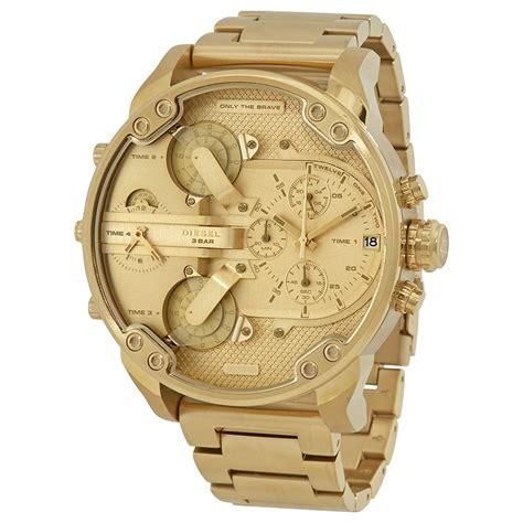 Diesel Mr. Daddy 2.0 Chronograph Gold 57mm Dial Mens Stainless Steel Quartz Watch Dz7399 By Watch Centre.