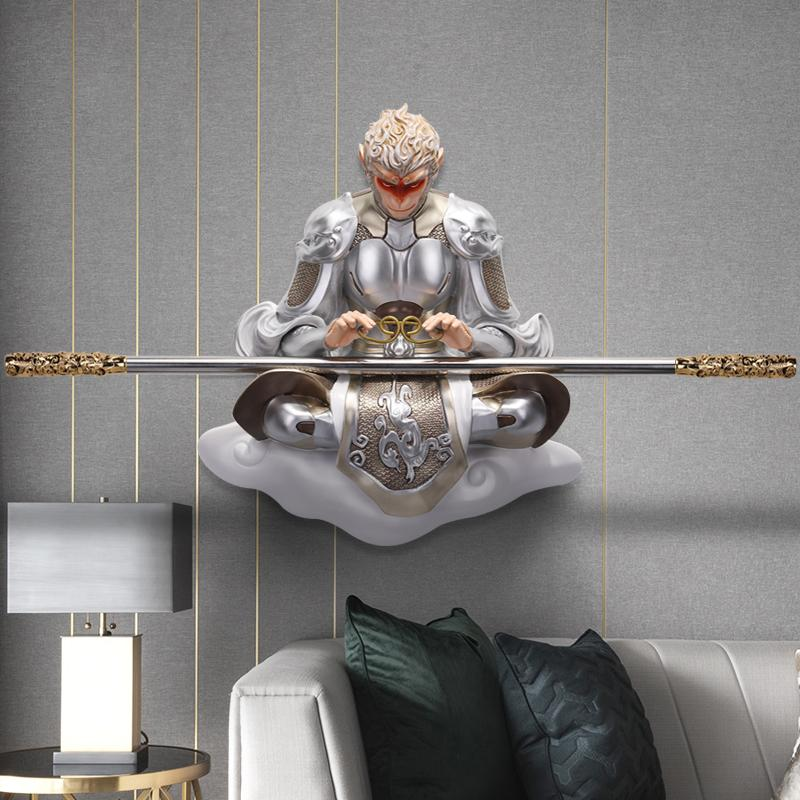 Sun Wukong 3D Relief Mural Decoration Wall Hangers New Chinese Style Decorative Painting Living Room Entrance Restaurant Pendant Triumph over the Buddha