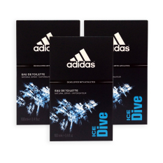Sale Pack Of 3 Adidas Men Edt Ice Dive Edt Perfume 100Ml 7498 Online On Singapore
