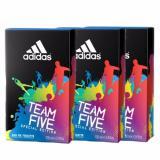 Sale Adidas Team Five Edt 100Ml X3 Bottles Adidas Original