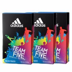 Price Adidas Team Five Edt 100Ml X3 Bottles On Singapore