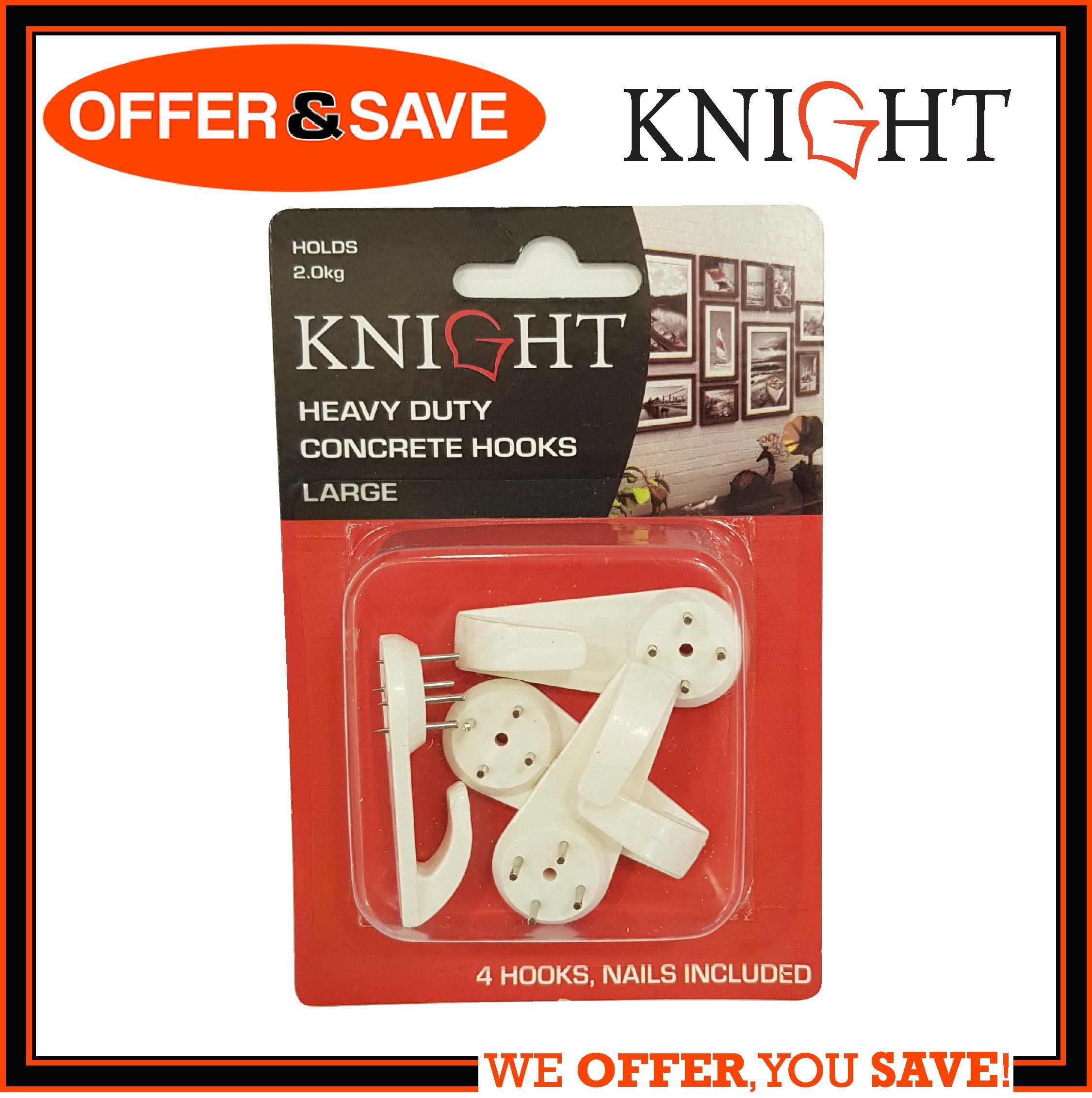 KNIGHT Heavy Duty Concrete Hook / Wall Hook Large 4pcs - 12322