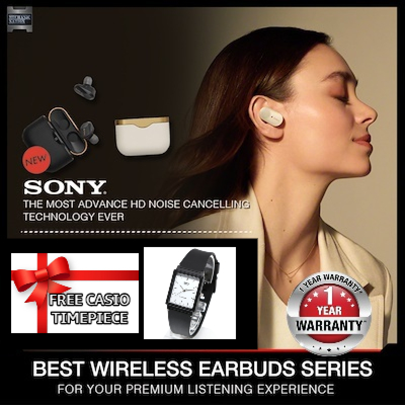 Free Casio Time Piece - Sony WF-1000XM3 Noise Cancelling Truly Wireless Earbuds with 1 Year Local Warranty WF1000XM3 Singapore