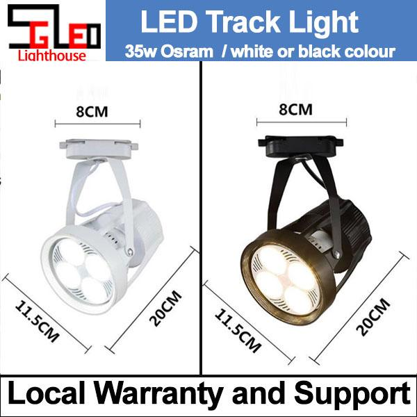 35W Black TSZ LED Track Light Daylight