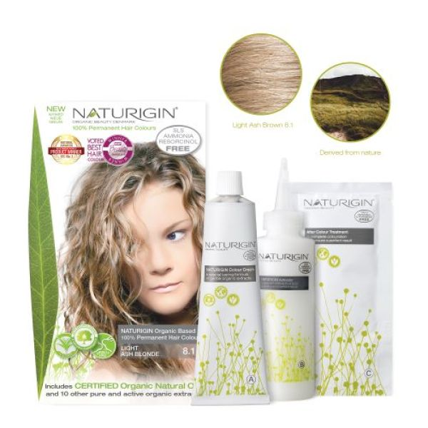 Buy NATURIGIN (8.1 LIGHT ASH BLONDE) 100% Permanent Organic Hair Colour Singapore