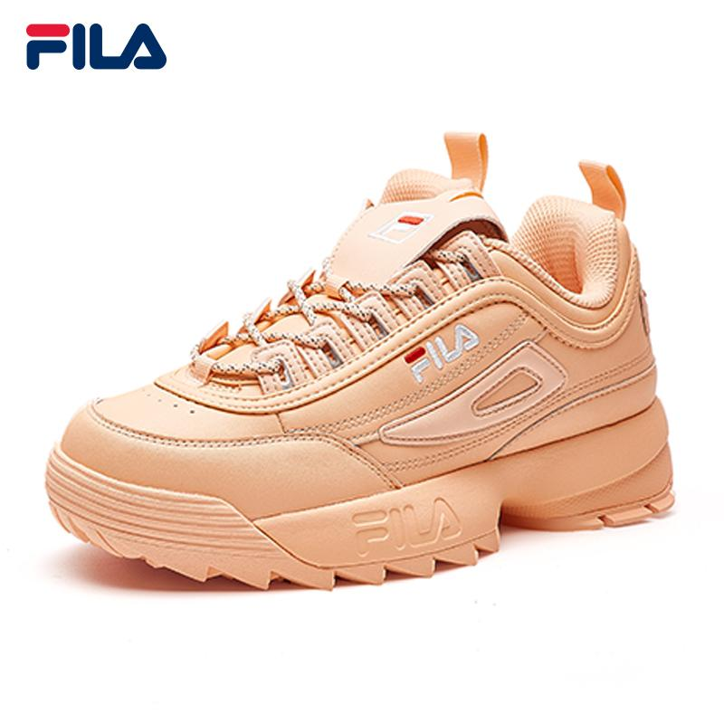 48904a20314 FILA Sports Shoes TrWomen DISRUPTOR II Leather Shoes Fashion