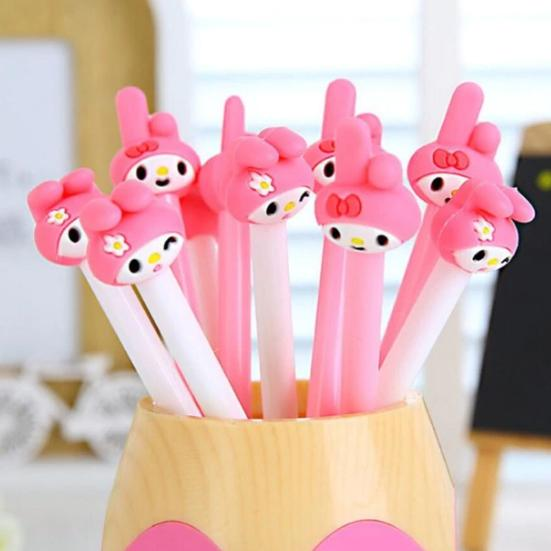 My Melody Gel Pen Cartoon Black Ink , Kawaii Student Kids Girl Stationery Office Learning Writing Supplies.