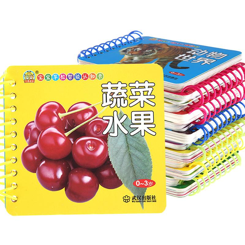 【24 books】Teach 0-3-year-old babies early. Enlightenment cognitive literacy cards tear well. Books and babies tear well.