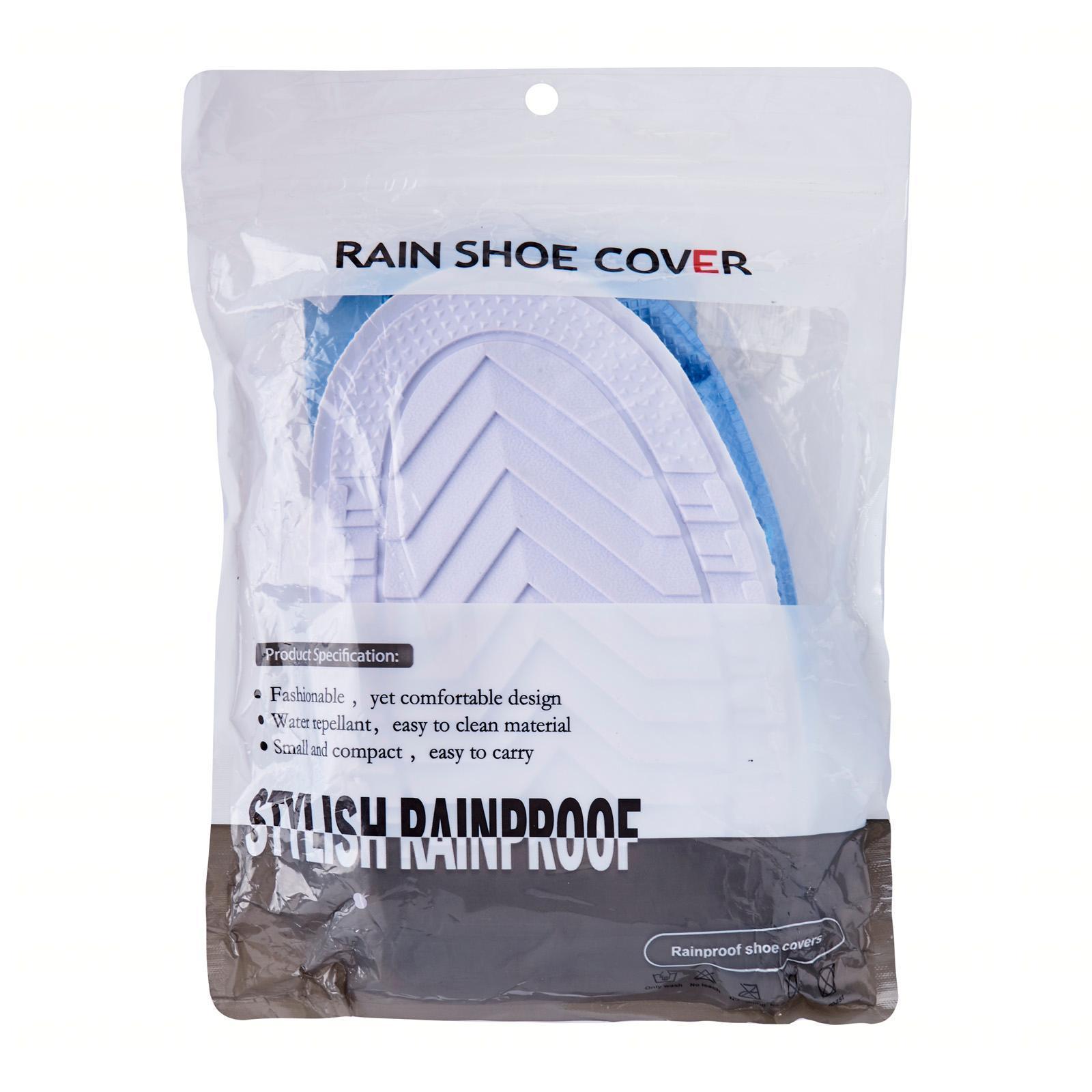 Adventure World Waterproof Rain Shoe Cover (Blue) - Medium