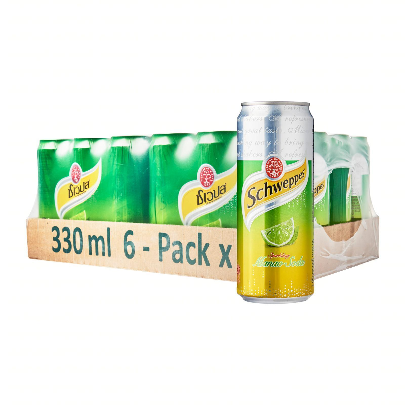 Schweppes Schweppes Manao Lime Sparkling Soda - 24 Cans - Case