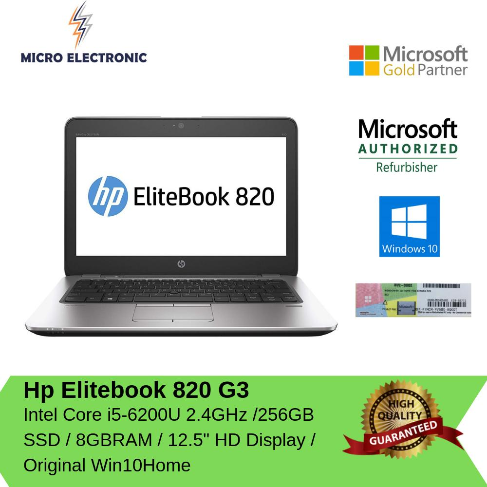 HP EliteBook 820G3 Laptop intel Core i5-5300U 24GHz 8GB 256GB SSD Windows 10 Refurbished PC Computer