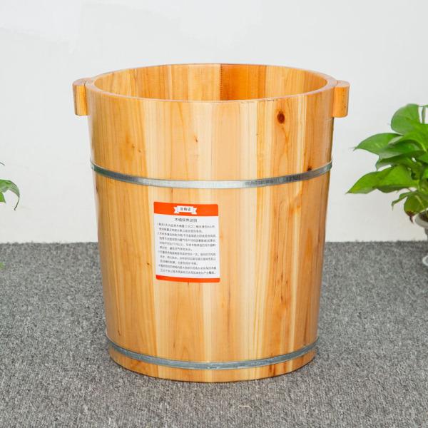 Buy High 40CM Home pao jiao tong Foot Bath Solid Wooden Bucket Feet xun zheng tong zu liao pen Covered Lazy Board 40 Barrels + Sit Smoked Singapore