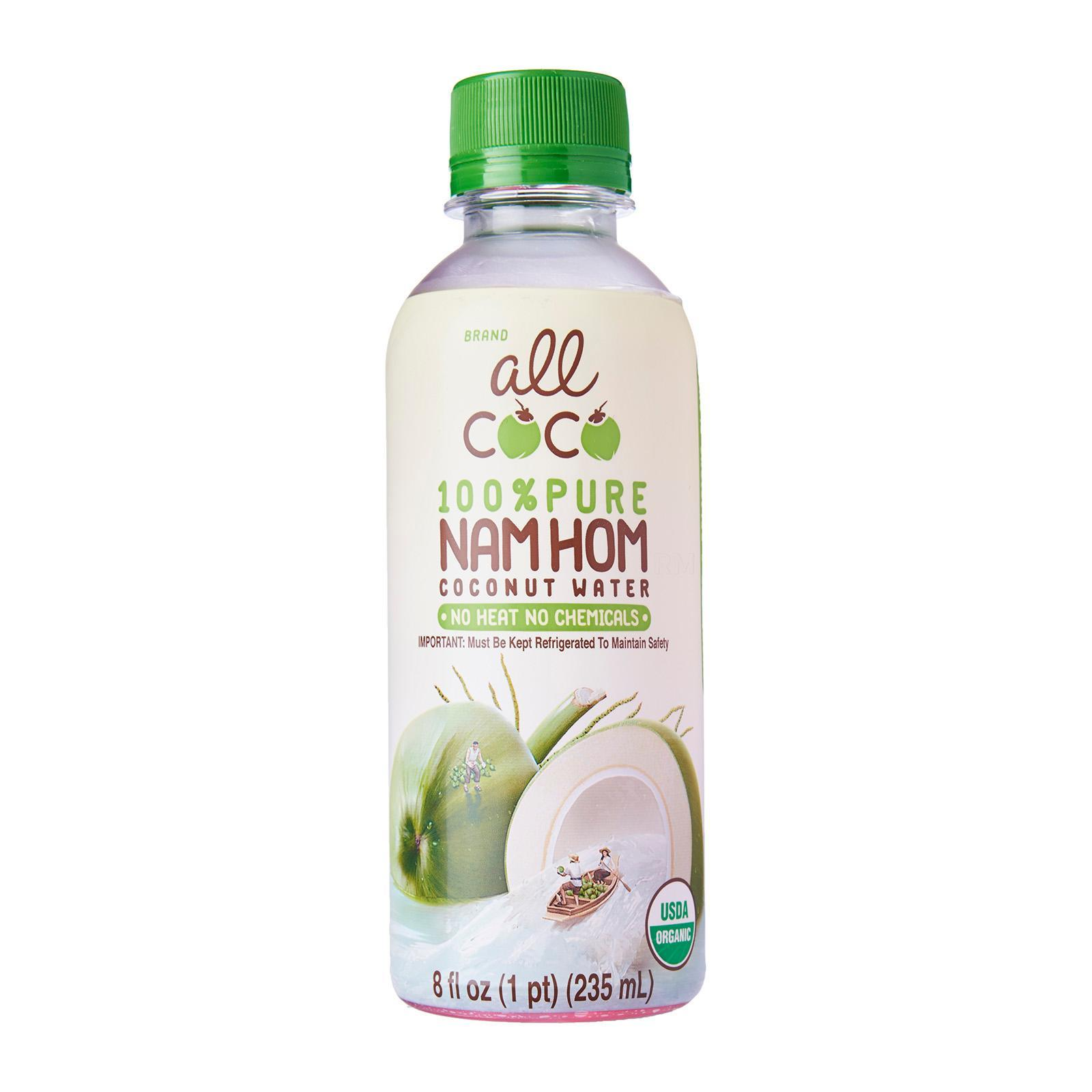 All Coco Nam Hom 100% Pure Organic Coconut Water By Redmart.