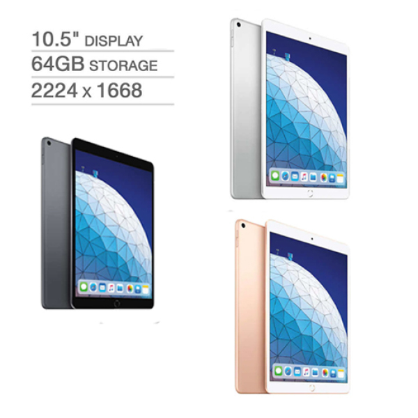 New Apple iPad Air - A12 Chip - 64GB - Latest Model (Space Gray, Gold, Silver)