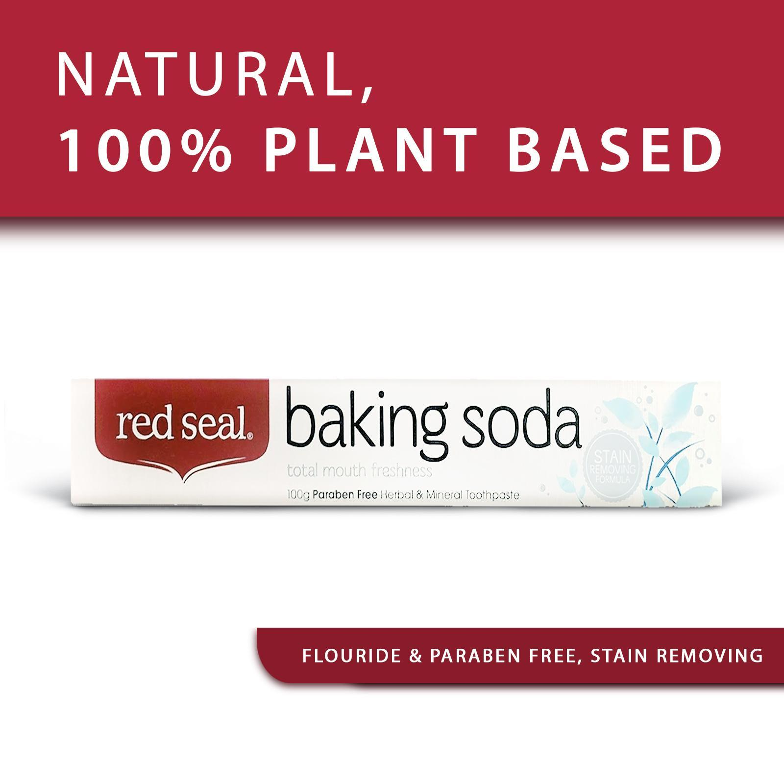 Red Seal Baking Soda Paraben-free Herbal And Mineral Toothpaste - by Optimo Foods