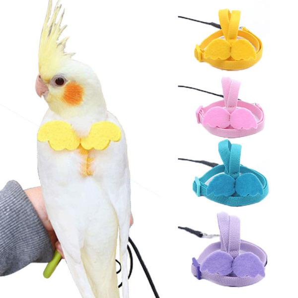 GERDA Có Thể Điều Chỉnh, Dây Bay Chống Bắn Cockatiel Nguồn Cung Cấp Cho Chim Phối Với Vẹt Hoa Mẫu Đơn Budgerigar Pet Bird Harness Leash Dây Kéo Đào Tạo Ngoài