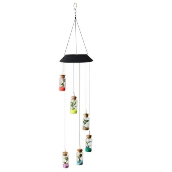 Solar Wind Chimes Outdoor Waterproof Garden Windchime Light Color Changing Hanging Light Wind Chime for Outdoor Decor