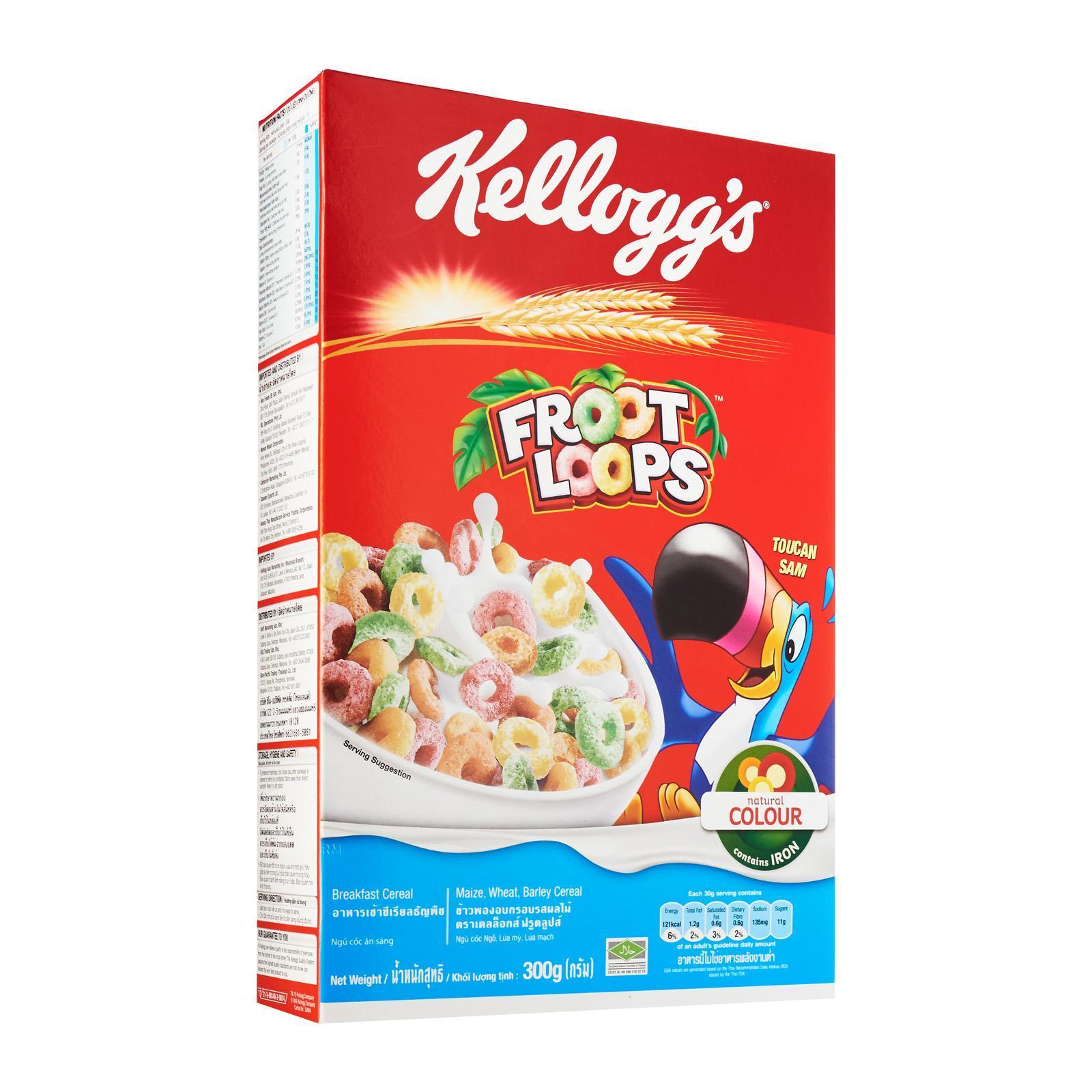 Kelloggs Froot Loops Cereal By Redmart.