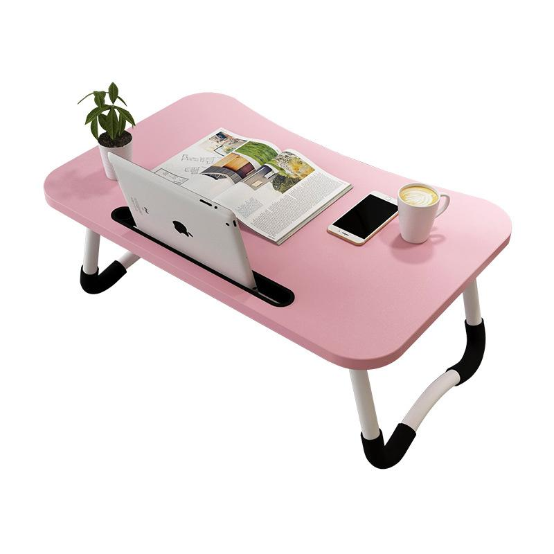 Anti-slip Foldable Laptop Table With Tablet Slot-Pink