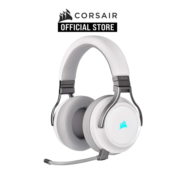 CORSAIR VIRTUOSO RGB WIRELESS High-Fidelity Gaming Headset — White