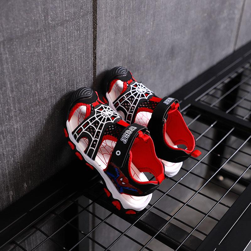 Boys Sandals 2019 Summer New Style Spiderman Big Boy Childrens Shoes Sandals Boy Students Shoes Closed-Toe Cool By Taobao Collection.