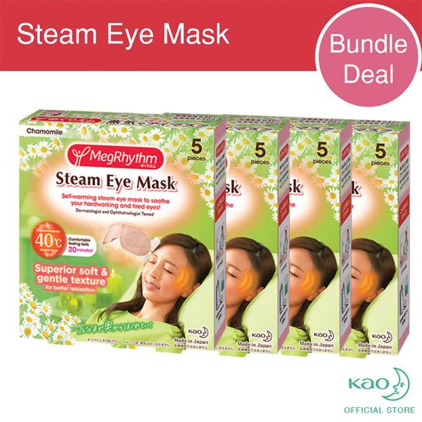 Buy MegRhythm Steam Eye Mask Chamomile 5P (x4 Bundle Pack) Singapore