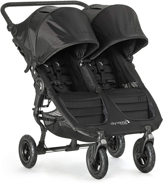 Baby Jogger City Mini GT Double Twin 2 Two Infant Child Children Kids Active Sports Stroller- Black/Black Singapore