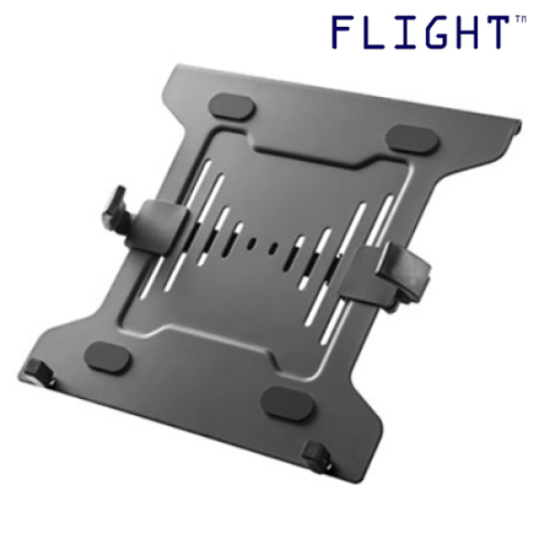 Laptop Holder Plate, Laptop Tablet Stand, Black, Laptop, Notebook, iPad Holder, Compatible with FAM Monitor Arms - LT-01 - Flight