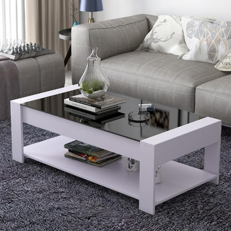 Tempered Glass Coffee Table Square Simple Economy Living Room Assembly American Village cayi hyundai Property Type