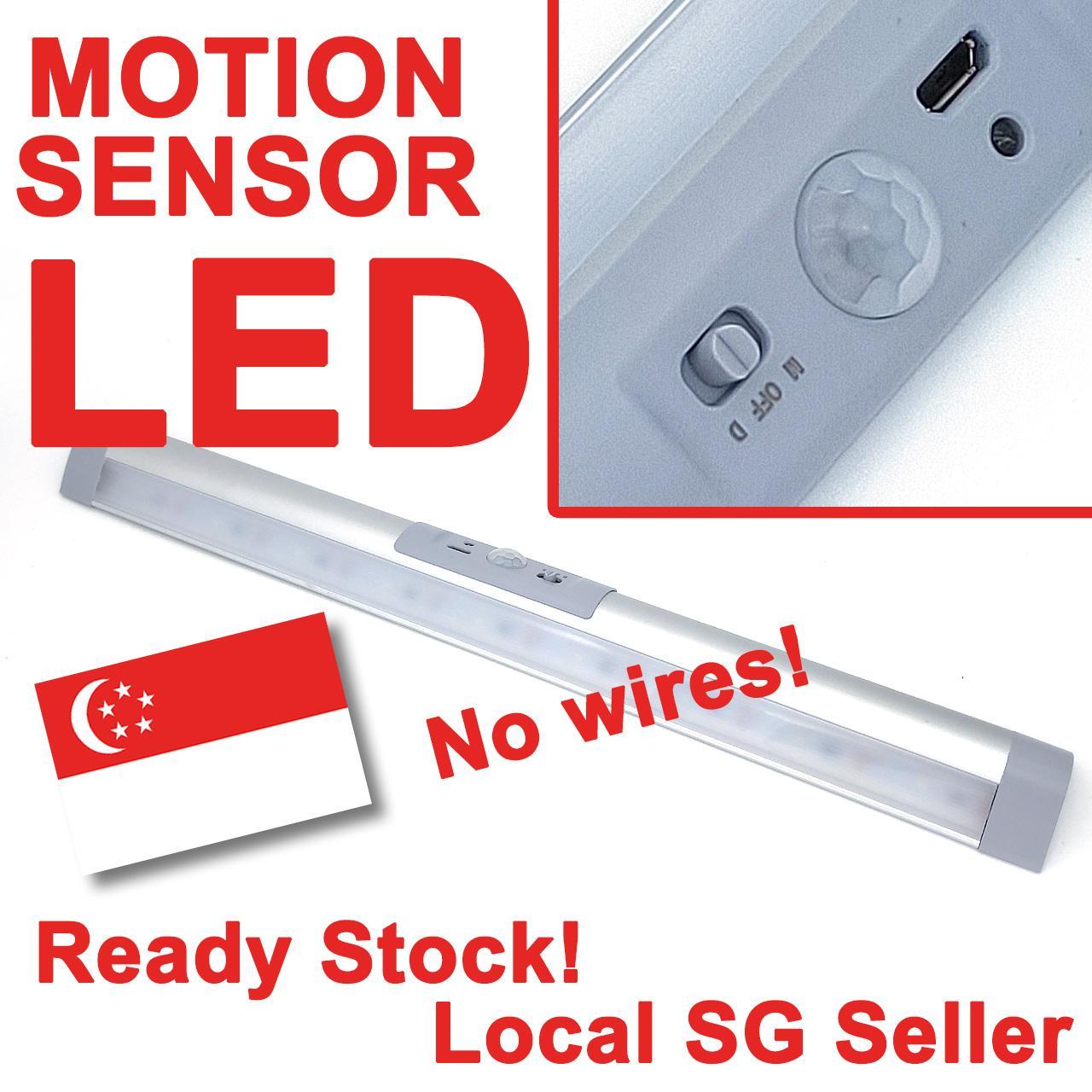 Motion sensor LED Light for Bookcase, Wardrobe, Cabinet etc - SG seller