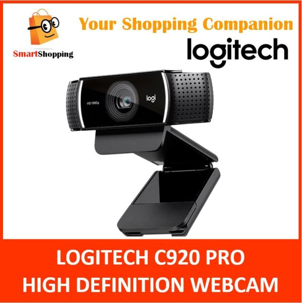 Logitech C920 Pro HD Webcam (Replacement of C922) 1080p Stereo Audio Auto Focus 2 Years SG Warranty 960-000770