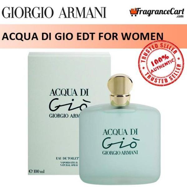 Buy Giorgio Armani Acqua di Gio EDT for Women (100ml) Eau de Toilette [Brand New 100% Authentic Perfume/Fragrance] Singapore