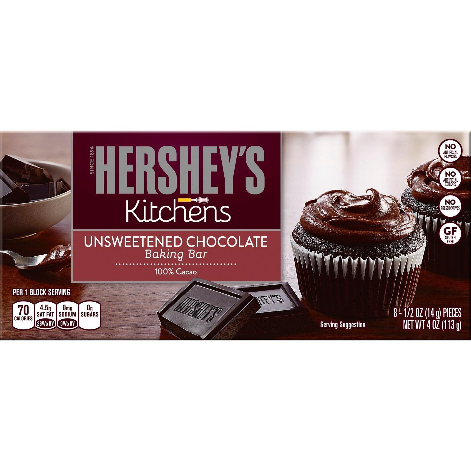 Hershey's Kitchens Baking Chocolate Bar - Unsweetened