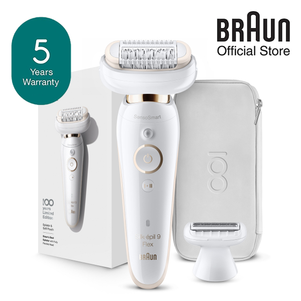 Buy Braun Silk Epil 9 MBSES9F Epilator Shaver Trimmer for Hair Removal Flex 100 Year Limited Edition with Pouch Singapore