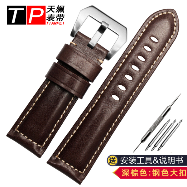 Adaptation Panerai/Citizen/Fossil/Breitling Genuine Leather Watch Band Vintage Cowhide MENS Watch Band 22 24mm Malaysia
