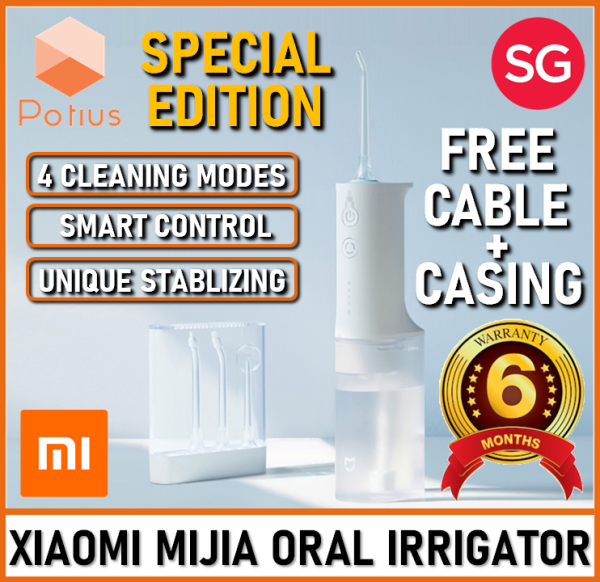 Buy [FREE CABLE+CASING] Xiaomi Mijia Electric Oral Irrigator Water Flosser | Dental Care | 200ml Capacity | IPX7 Waterproof | Xiaomi Electric Flosser Singapore