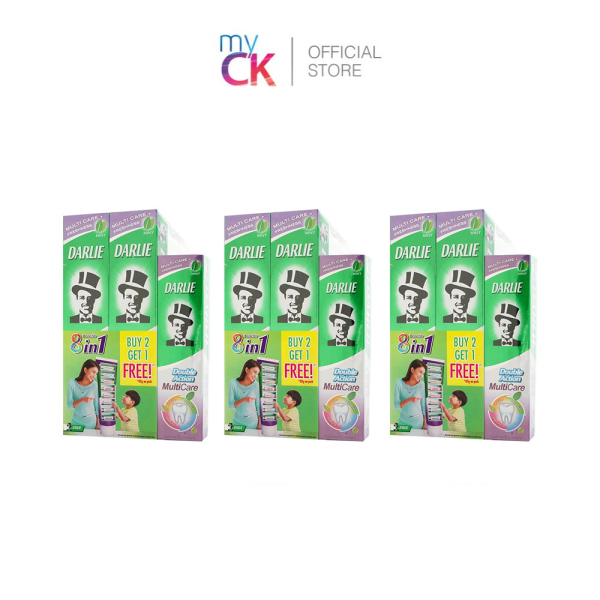 Buy [Bundle of 3] Darlie Double Action Multi Care Toothpaste 2X180g Free 80g Singapore