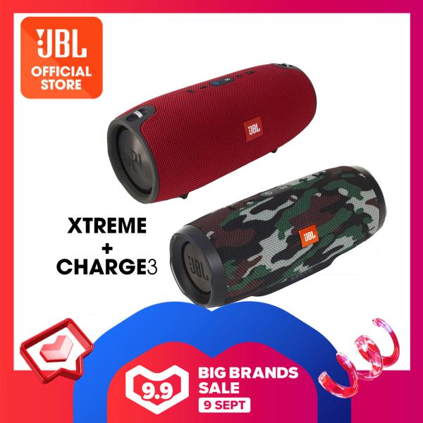 JBL XTREME Portable Bluetooth Speaker + JBL Charge 3 Portable Bluetooth Speaker + Free Yurbuds ITX1000 Singapore