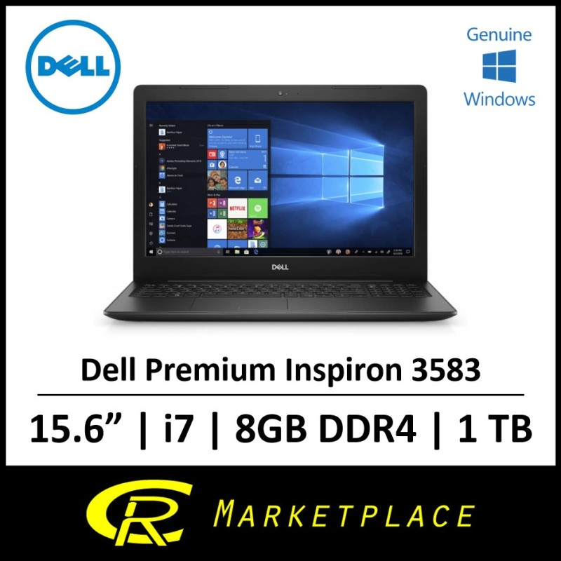 Dell Inspiron 15  3583 8th Gen Intel® Core™ i7-8565UUp to 4.6GHz 8GB DDR4 RAM 1TB SATA