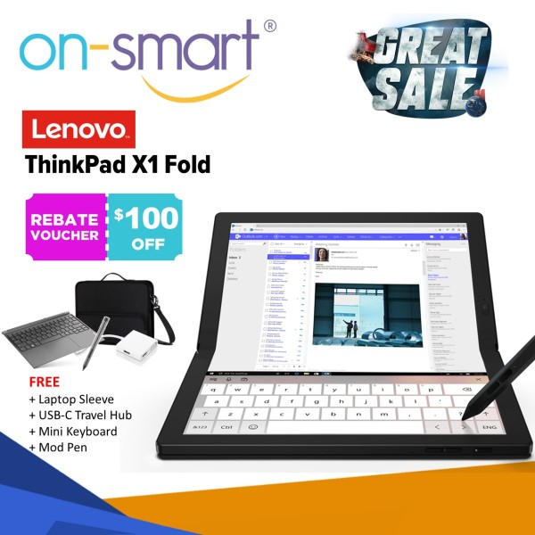 【Next Day Delivery】Lenovo ThinkPad X1 Fold Gen 1 | Intel Core i5-L16G7 Processor | 8GB RAM | 512GB NVMe SSD | 13.3 QXGA TouchScreen  Display | Intel UHD Graphics | Windows 10 Pro | 3 Years Warranty