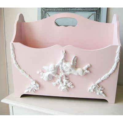 Imported from South Korea Purchasing Agents A283 Pink Princess ANGEL Wood Magazine Rack