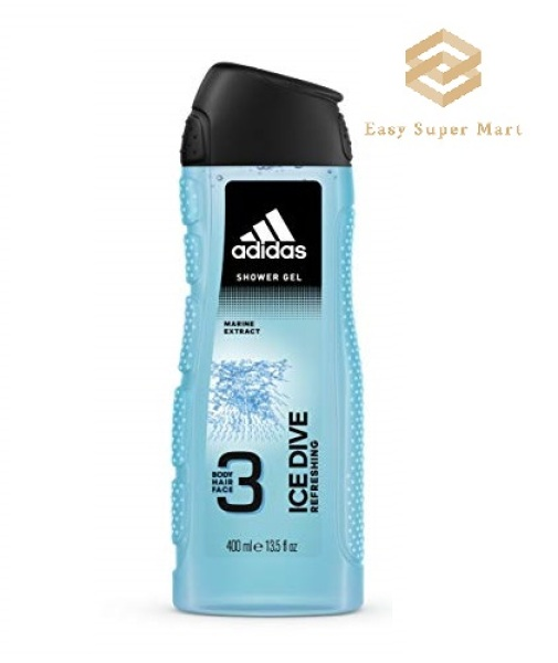 Buy [ Bundle of 3 ] Adidas Ice Dive 3In1 Body, Hair And Face Shower Gel 400 ml Singapore