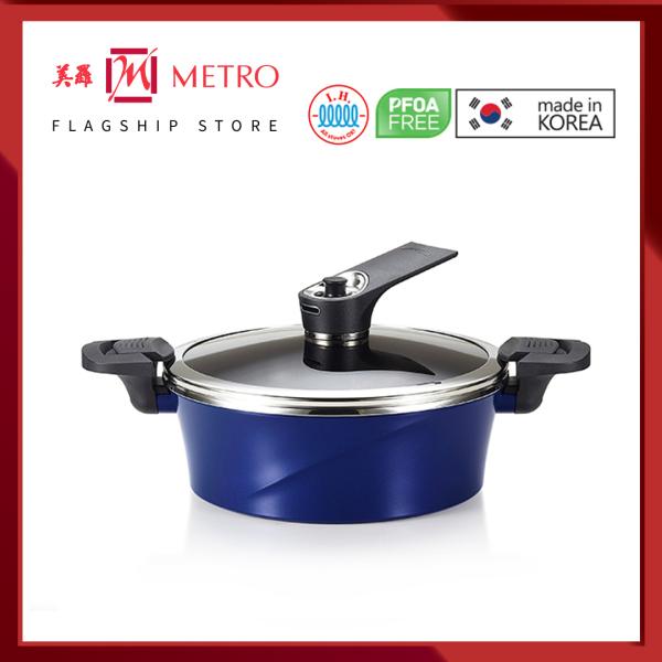 Happycall IH Vacuum 24cm Low Die Cast Stock Pot (Made In Korea) 3003-0084 Singapore