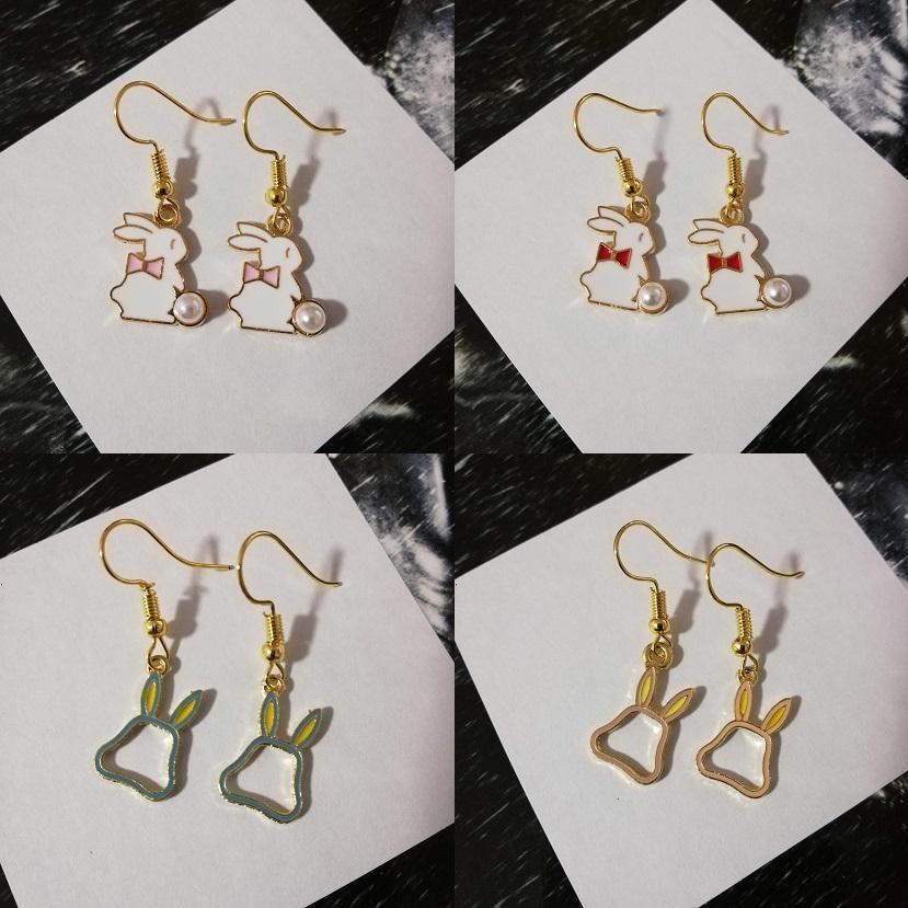 15a0d884a215b Alice in Wonderland Fairytale Themed Rabbit Hook Earrings