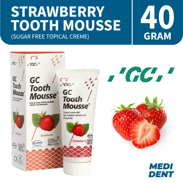 Buy GC TOOTH MOUSSE SUGAR FREE TOPICAL CREME STRAWBERRY 40G Singapore