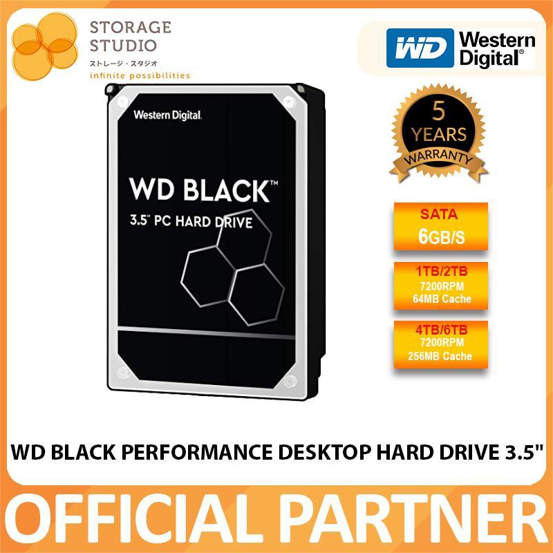 Wd Black 3.5 Sata Hdd ,  6tb / 4tb / 2tb / 1tb  7200rpm Internal Hdd. Local Wd Singapore Warranty 5 Years. **wd Official Partner**.