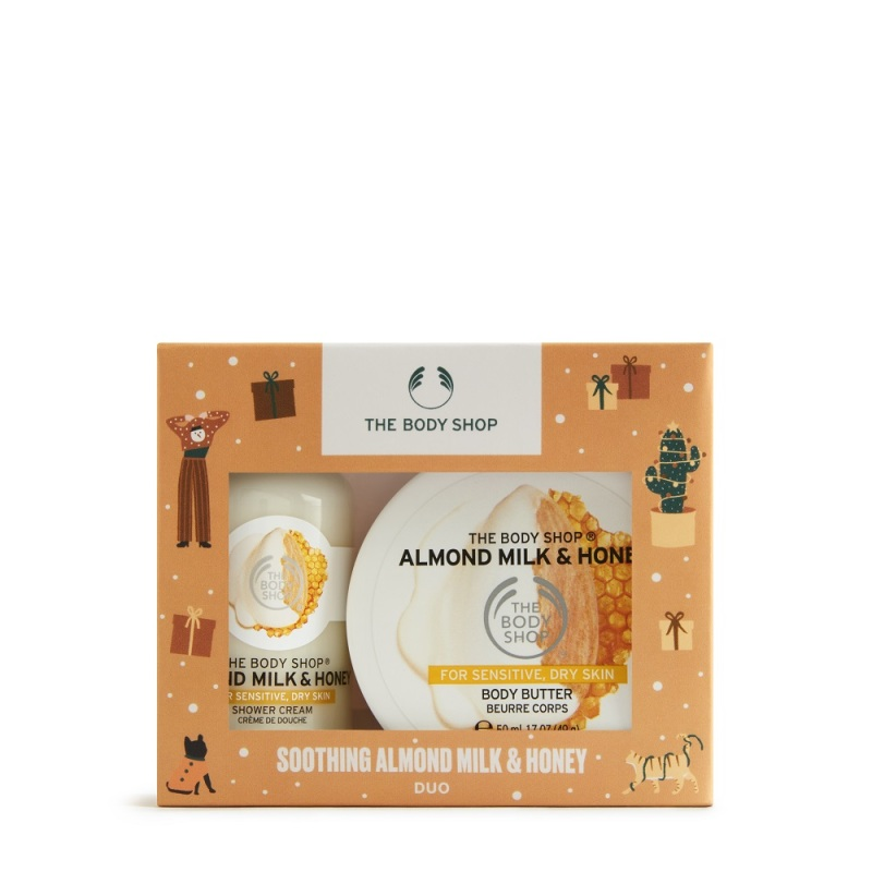 Buy The Body Shop Soothing Almond Milk & Honey Duo (Christmas Gift Set) Singapore