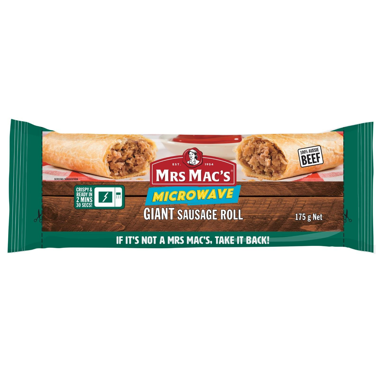 Mrs Macs Giant Sausage Roll - Frozen